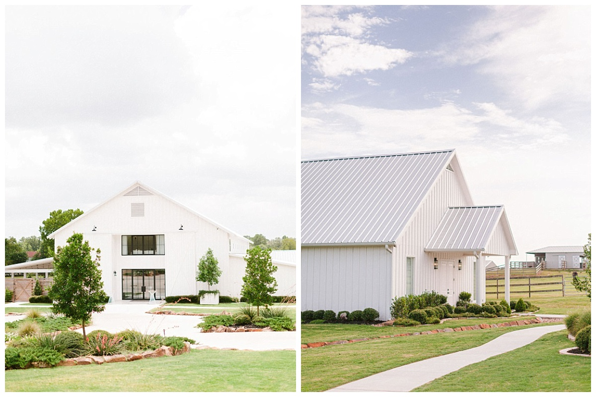 Front view of The Farmhouse and side view of The Chapel | The Farmhouse Events Real Weddings | A Summer Vision of Love | Kristin & Rob