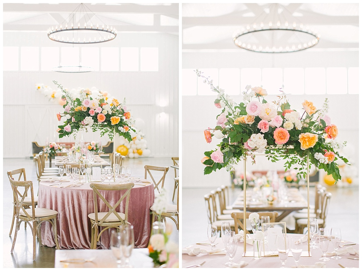 Beautiful tablescapes and floral arrangements